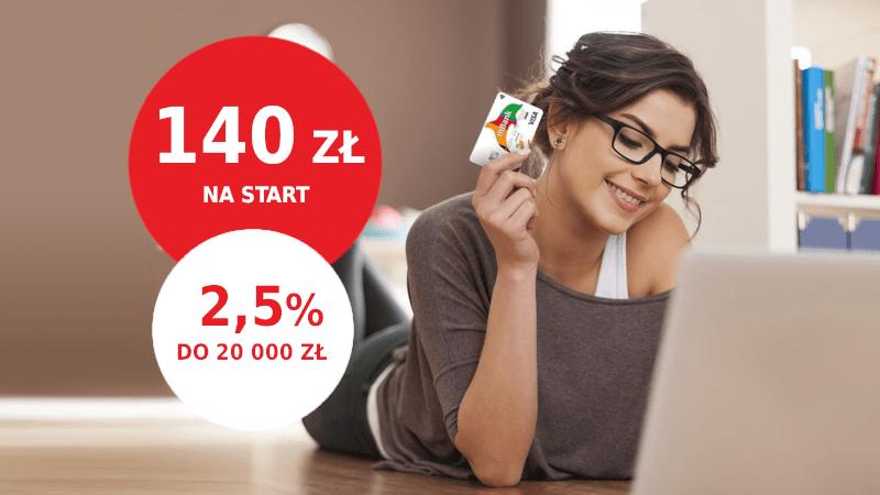 mbank promocja 140 zł ekonto z premią