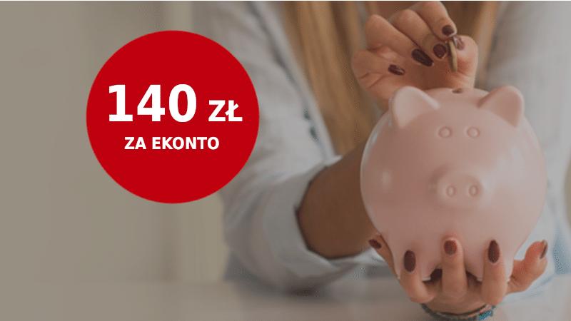 ekonto promocja 140 zł