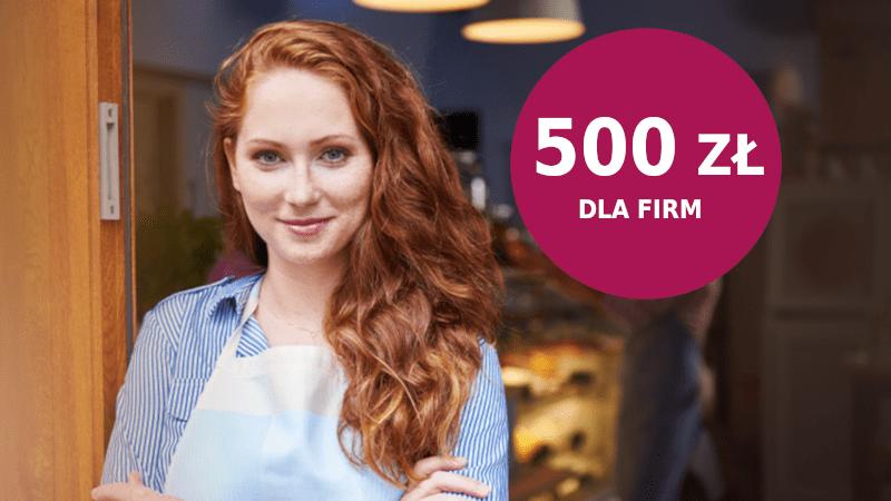 millenium promocja 500 zł dla firm