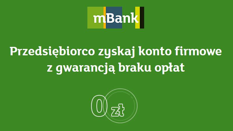 mbank mbiznes konto promocja