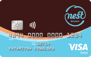 nest bank wygląd karty