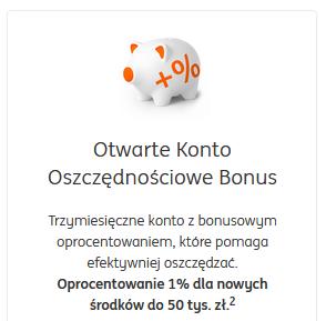 otwarte konto oszczędnościowe bonus