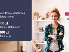Millenium promocja dla firm: 1800 zł za konto firmowe + zwolnienie z opłat na 2 lata