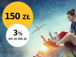 Promocje Alior Banku: 150 zł za założenie konta i 3% na koncie oszczędnościowym