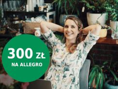 300 zł do wydania na Allegro za otwarcie konta w BNP Paribas