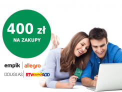 400 zł w bonach na Allegro, Empik, Douglas lub Euro RTV AGD za kartę kredytową BNP Paribas