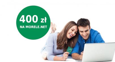 400 zł do Morele.net za kartę kredytową BNP Paribas