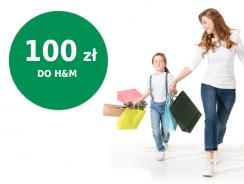 Łatwe 100 zł do sklepów H&M za założenie Konta Otwartego BNP Paribas