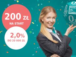 Promocje Credit Agricole: 200 zł premii i 2,0% na koncie oszczędnościowym