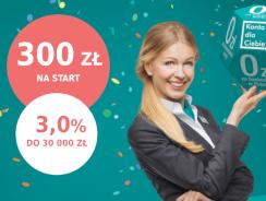 Promocje Credit Agricole: 300 zł premii i 3% na koncie oszczędnościowym