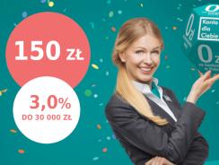 Promocje Credit Agricole: 150 zł za przeniesienie konta, 50 zł w programie poleceń i 3% na koncie oszczędnościowym