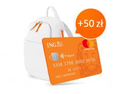 Po 50 zł od ING za konto dla dziecka lub kartę przedpłaconą (+160 zł dla rodzica)
