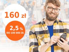 Promocje ING: 160 zł za założenie konta Direct/Mobi i 2,5% na koncie oszczędnościowym