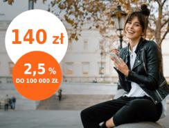 ING Konto Direct/Mobi: 140 zł za otwarcie i 2,5% na koncie oszczędnościowym
