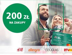 200 zł w bonach na zakupy (Allegro, Douglas, H&M) za kartę kredytową BNP Paribas