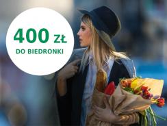 400 zł do Biedronki za kartę kredytową BNP Paribas
