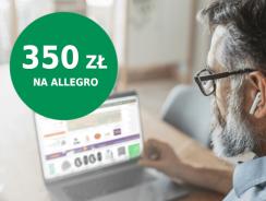 350 zł do wydania na Allegro za otwarcie konta w BNP Paribas