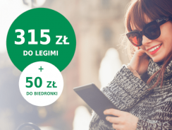 BNP Paribas: 7-miesięczny dostęp do Legimi (wart 315 zł) + 50 zł do Biedronki