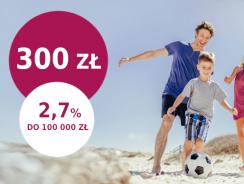 Promocje Millenium: Zyskaj 300 zł i 2,7% na koncie oszczędnościowym
