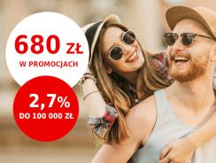 Promocje Santander: od 230 do 680 zł premii i 2,7% na koncie oszczędnościowym