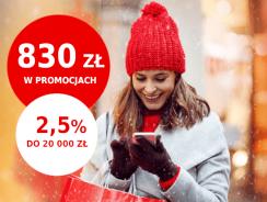 Promocje Santander: od 80 do 830 zł premii i 2,5% na lokacie