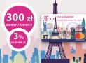 Do 300 zł zwrotu i 3% na koncie oszczędnościowym w T-Mobile Usługi Bankowe